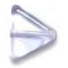 Glass Bead Triangle 11x13mm Alexandrite - Strung